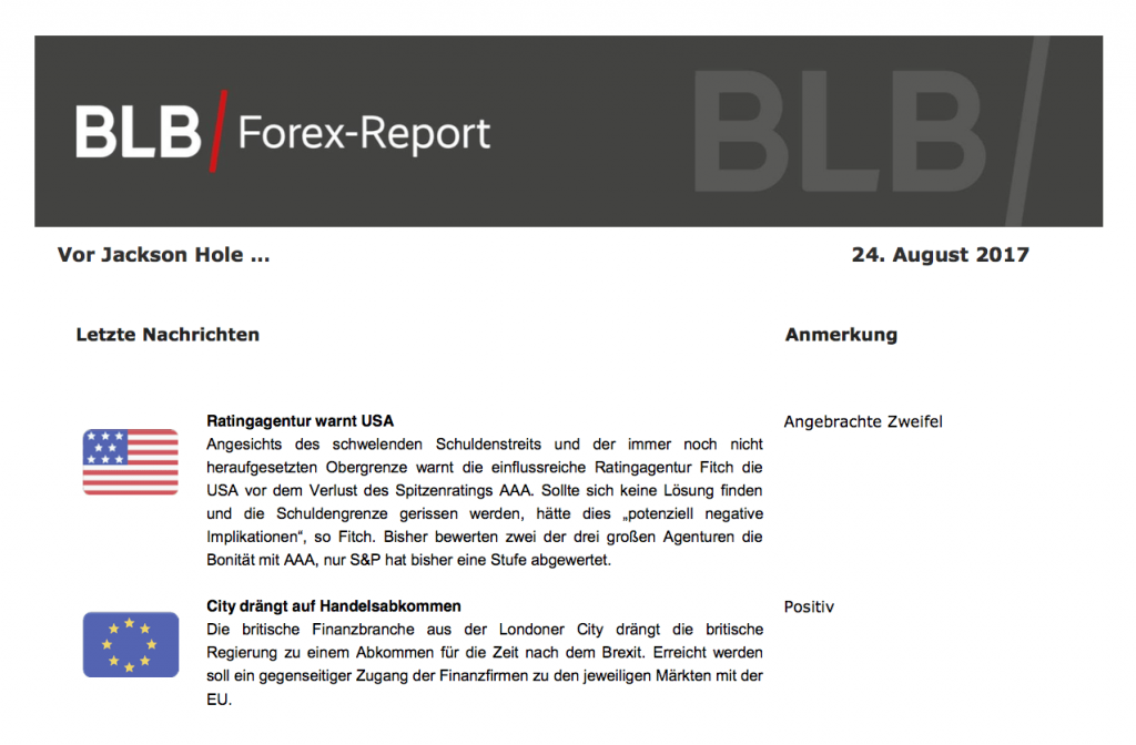 Forex Report 24.08.17