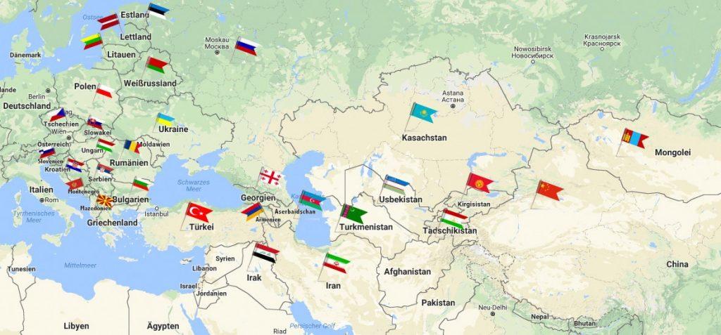 Seidenstrasse Länder Profile