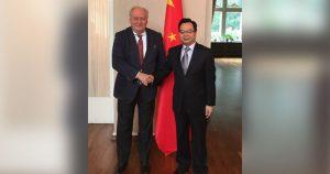Antrittsbesuch beim Chinesischen Generalkonsul Congbin Sun in Hamburg