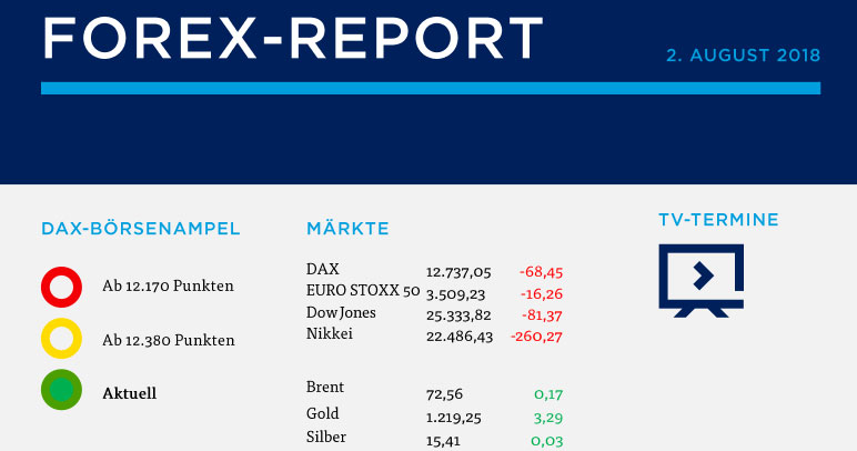 Forex Report 02.08.2018